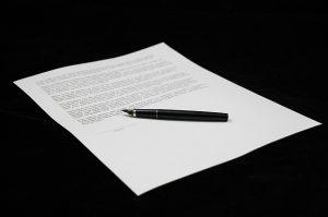 Overeenkomst tekenen