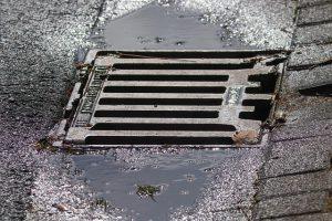 Regenwater afvoer weg