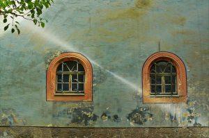 Huis venster gevel