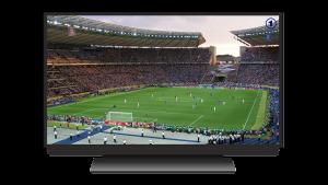 Voetbal kijken televisie